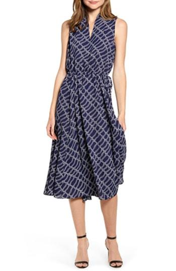 drawstring midi dress | 40plusstyle.com