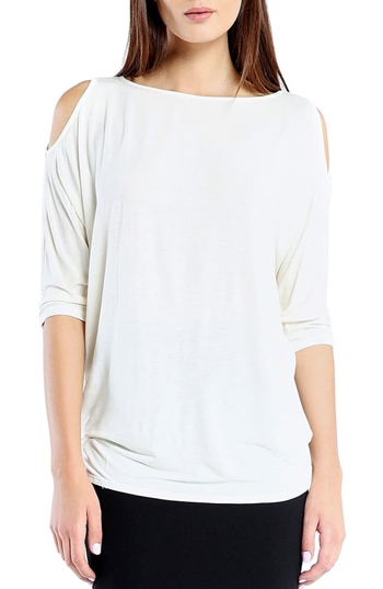cold shoulder tee | 40plusstyle.com