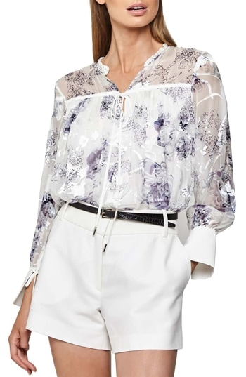 sheer top to hide arms | 40plusstyle.com