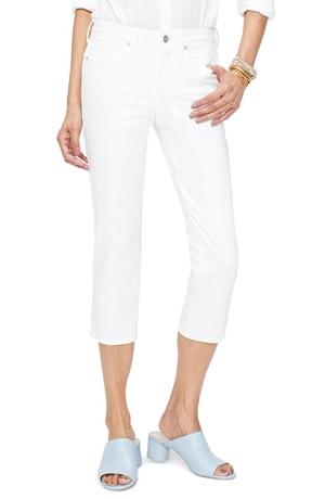 white capri jeans | 40plusstyle.com