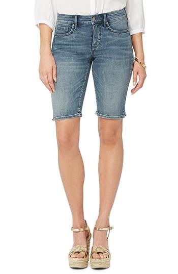 NYDJ Briella Cool Embrace® Denim Bermuda Shorts | 40plusstyle.com