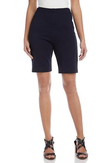 Karen Kane Pull-On Stretch Bermuda Shorts | 40plusstyle.com