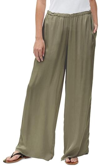 Michael Stars wide leg pants | 40plusstyle.com