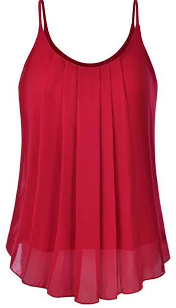 pleated red top | 40plusstyle.com