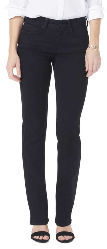 NYDJ high rise jeans | 40plusstyle.com