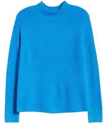 Halogen mock neck sweater | 40plusstyle.com