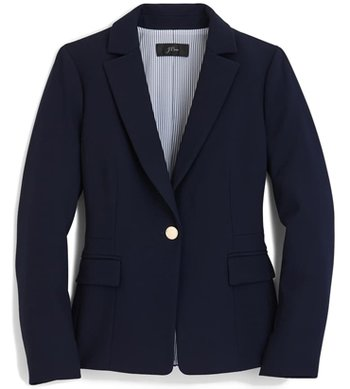 J. Crew Mayfair Four Season Stretch Blazer | 40plusstyle.com