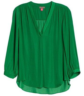 Vince Camuto rumple fabric blouse | 40plusstyle.com