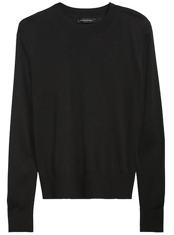 Banana Republic silk cashmere relaxed sweater | 40plusstyle.com