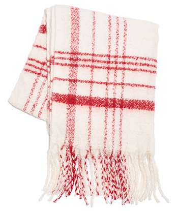 Cozy gifts - Free People plaid oversize scarf | 40plusstyle.com