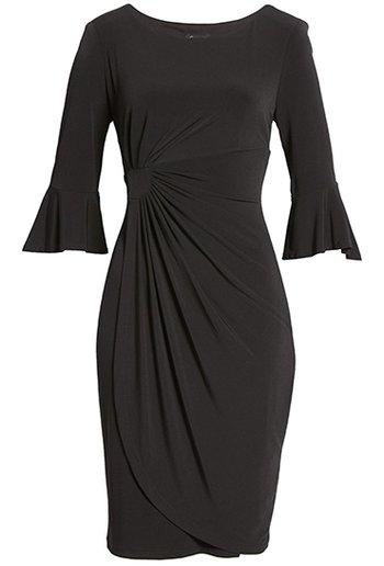 perfect little black pleat dress | 40plusstyle.com | 40plusstyle.com