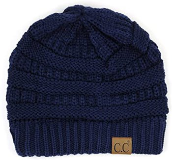 C.C warm cable knit beanie | 40plusstyle.com
