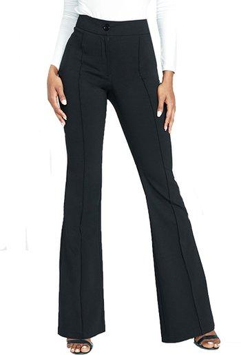 Alloy Apparel Tall high waist flare dress pants | 40plusstyle.com