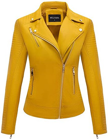 Bellivera faux leather moto jacket | 40plusstyle.com