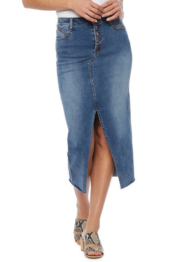 WASH LAB front slit skirt | 40plusstyle.com