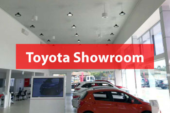 Toyota Benefit with Airius Fans in their Showroom