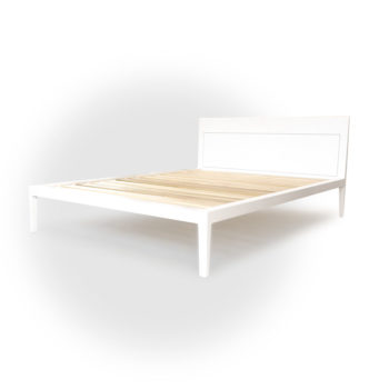 white platform bed no. 1, eco friendly greenguard lacquer finish on solid maple wood