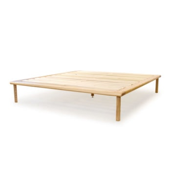 ash platform bed no headboard