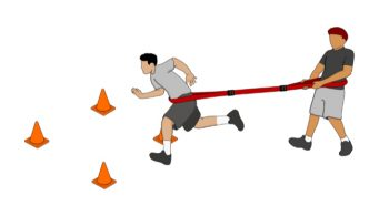 Resistance Running Football Conditioning Drill