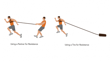 harness runs football conditioning drill