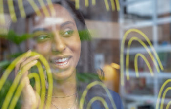 close up of woman speaking on phone