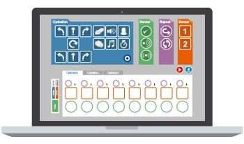 logiciel programmation robot icone enfant