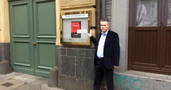 Im Herzen der Altstadt: Der Eingang zur Mahn- und Gedenkstätte auf der Mühlenstraße (Foto: Buck)