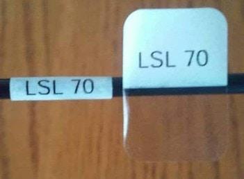 LSL 70 cable labels