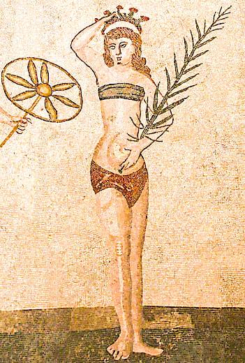 カザーレ荘の水着の女王画像