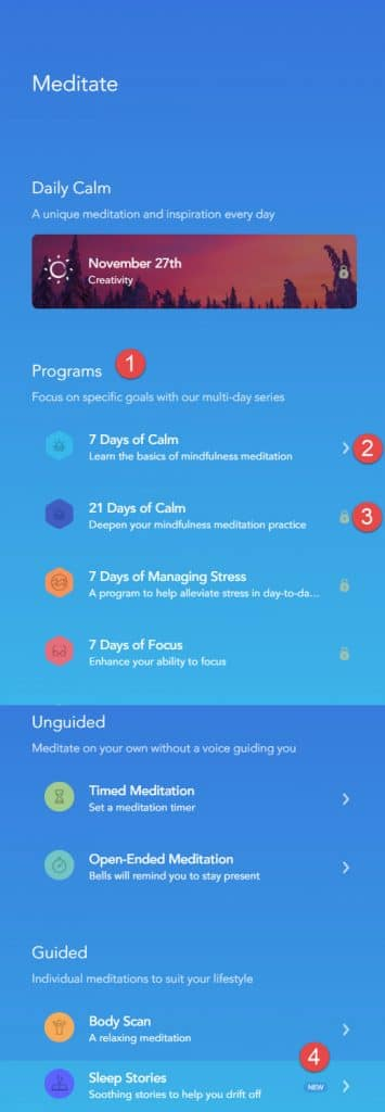 Sample of Calm programs