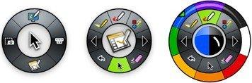 Palettes logiciel pour tableau interactif