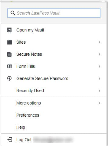 Example of a password manager