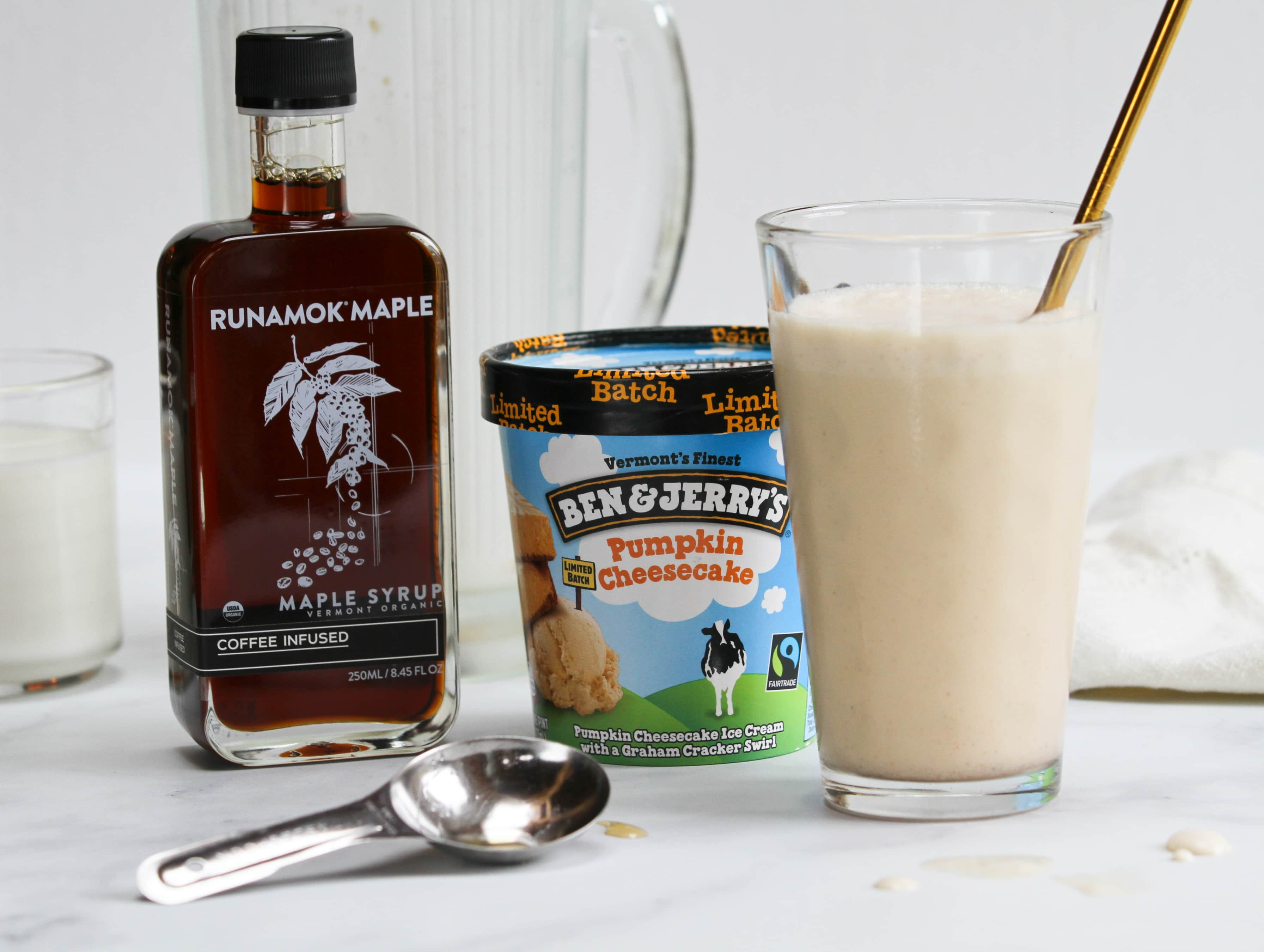 Pumpkin Latte Milkshake with Ben & Jerry's ice cream and Runamok maple syrup