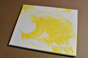 Yellow monochromatic reverse dip painting