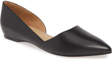 Shoes for wide feet - Naturalizer 'Samantha' half d'Orsay flat | 40plusstyle.com