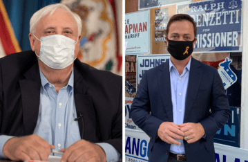 Republican W.Va. Gov. Jim Justice (left) and Democratic challenger Ben Salango (right). Left photo acceptable for use under Public Domain Mark 1.0. Right photo courtesy of Amanda Barber.