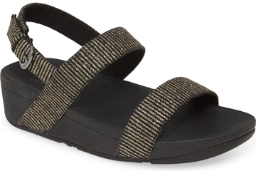 Sandals for plantar fasciitis - FitFlop 'Lottie' glitter slingback sandal | 40plusstyle.com