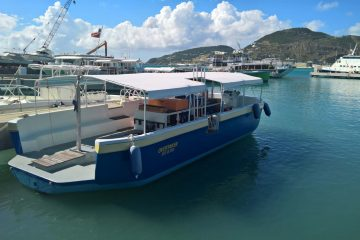 Overtaker. The boat SNUBA St Maarten uses for the snuba adventure