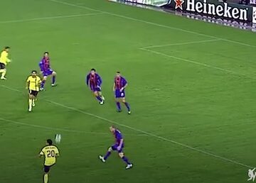 Alves No Look Pass to Messi