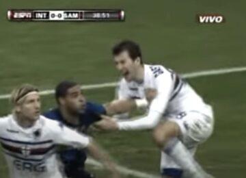 Adriano Punches Gastaldello