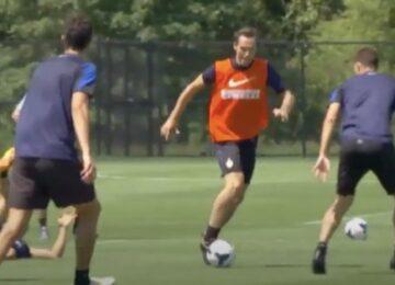 Nash Trains with Inter Milan
