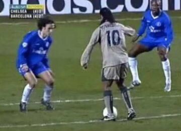 Ronaldinho Toe Poke Goal Versus Chelsea