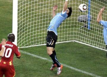 Suarez Handball Versus Ghana