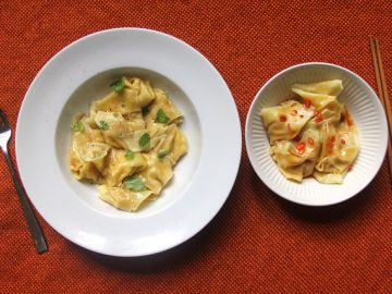 Winter Squash Wontons, Two Ways