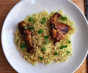 Chicken Majboos with Basmati rice