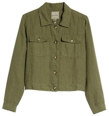 green denim jacket   40plusstyle.com