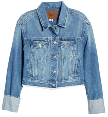crop denim jacket | 40plusstyle.com