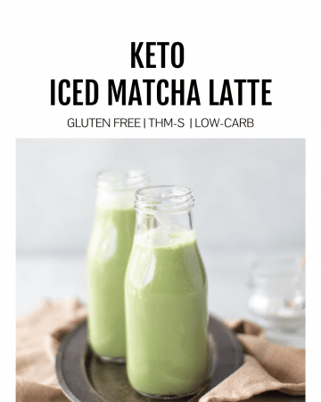 featured image for keto iced matcha latte