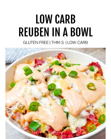 Featured image for low carb reuben in a bowl