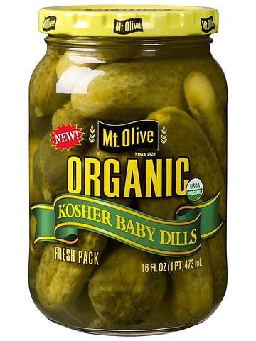 Organic Kosher Baby Dills Front